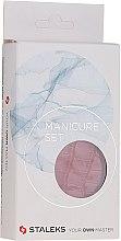 """Парфюмерия и Козметика Маникюрен комплект """"Lady"""", MS-02, 5 инструмента, червена змия - Staleks Manicure Set"""