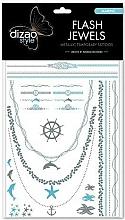 """Парфюмерия и Козметика Временни татуировки """"Море"""" - Dizao Flash Jewels"""