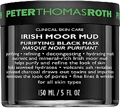 Почистваща маска за лице - Peter Thomas Roth Irish Moor Mud Purifying Black Mask — снимка N1