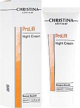 Парфюми, Парфюмерия, козметика Нощен възстановяващ и подхранваящ крем за лице - Christina Clinical ProLift Night Cream