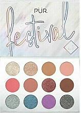 Парфюмерия и Козметика Палитра пигменти за очи - Pur Festival 2.0 12-Piece Pressed Pigments Palette