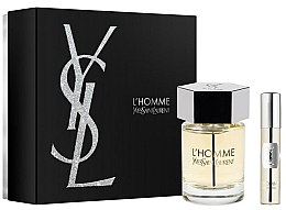 Парфюми, Парфюмерия, козметика Yves Saint Laurent L'Homme - Комплект парфюмна вода (edt/100ml + edt/mini/10ml)