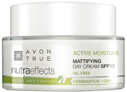 Парфюми, Парфюмерия, козметика Матиращ дневен крем за лице SPF 15 - Avon True Nutra Effects