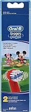 Парфюмерия и Козметика Сменаеми глави за детска четка за зъби EB10, Mickey - Oral-B Stages Power Disney