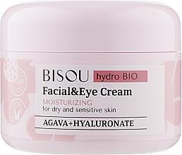 Парфюмерия и Козметика Овлажняващ крем за лице и околоочна зона - Bisou Hydro Bio Facial Eye Cream