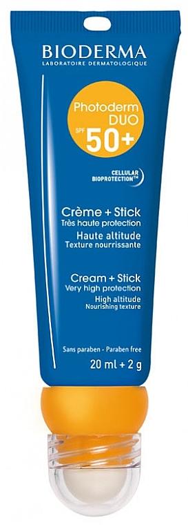Слънцезащитен крем и стик за устни - Bioderma Photoderm Duo SPF50+ Creme + Stick — снимка N1