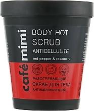 """Парфюмерия и Козметика Скраб за тяло """"Антицелулитен"""" - Cafe Mimi Body Hot Scrub Anticellulite"""