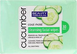 Парфюми, Парфюмерия, козметика Кърпички за премахване на грим с екстракт от краставица - Beauty Formulas Cucumber Cleansing Facial Wipes