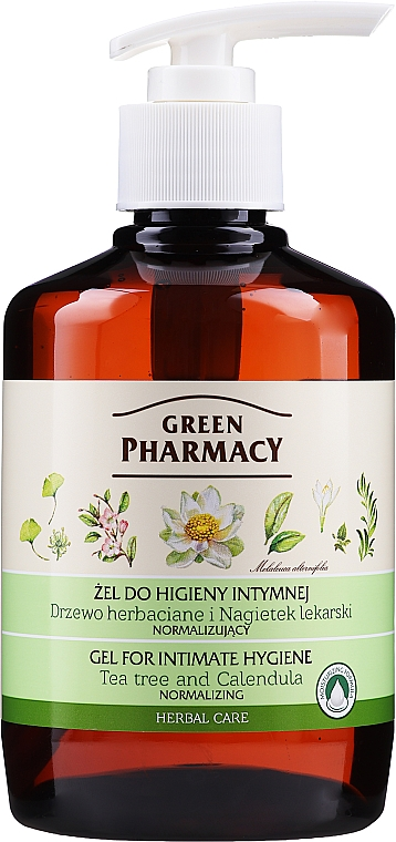 Гел за интимна хигиена с екстракт от невен и чаено дърво - Green Pharmacy