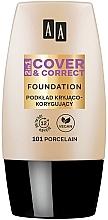 Парфюмерия и Козметика AA 2in1 Cover&Correct Foundation - Фон дьо тен 2 в 1