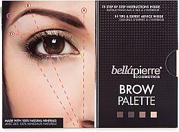 Парфюми, Парфюмерия, козметика Палитра за вежди - Bellapierre Cosmetics Brow Palette