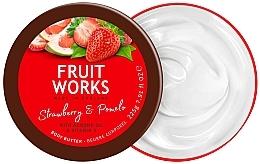 "Парфюмерия и Козметика Масло за тяло ""Ягода и Помело"" - Grace Cole Fruit Works Body Butter Strawberry & Pomelo"