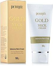Парфюмерия и Козметика Крем за врата и шията със злато - Petitfee & Koelf Gold Neck Cream