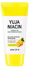 Парфюмерия и Козметика Изсветляващ слънцезащитен крем за лице SPF50+ - Some By Mi Yuja Niacin Mineral 100 Brightening Suncream