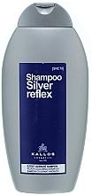 Парфюмерия и Козметика Тониращ шампоан за сребристо боядисване - Kallos Cosmetics Silver Reflex Shampoo
