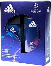 Парфюмерия и Козметика Adidas UEFA Champions League Victory Edition - Комплект (део спрей/75ml+душ гел/250ml)