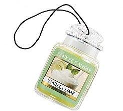 "Парфюми, Парфюмерия, козметика Ароматизатор ""Ванилия и лайм"" - Yankee Candle Vanilla Lime Car Jar Ultimate"