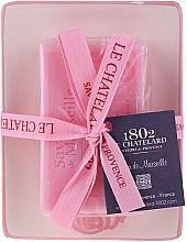 Парфюмерия и Козметика Натурален сапун с аромат на рози, с керамична сапунерка - Le Chatelard Rose Soap