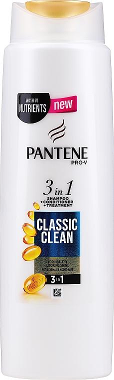 """Шампоан за коса """"Класически чисто"""" - Pantene Pro-V Classic Clean 3in1 Shampoo — снимка N1"""