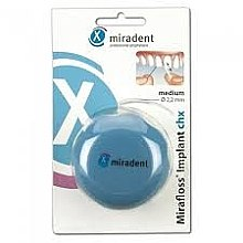 Парфюми, Парфюмерия, козметика Конец за зъби, син - Miradent Mirafloss Implant CHX 50