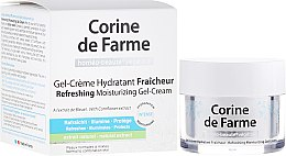 Парфюми, Парфюмерия, козметика Освежаващ, хидратиращ крем-гел за нормална и комбинирана кожа - Corine de Farme