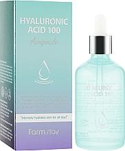 Парфюмерия и Козметика Овлажняващ серум с хиалуронова киселина - FarmStay Hyaluronic Acid 100 Ampoule