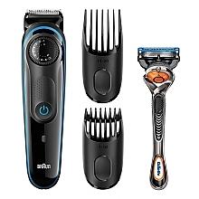 Тример за брада + самобръсначка - Braun BeardTrimmer BT5040 — снимка N2