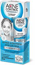 Парфюмерия и Козметика Нощен крем за лице - Fito Козметик Acne Control Professional