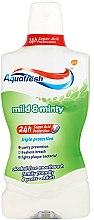 """Парфюми, Парфюмерия, козметика Вода за уста """"Комплексна защита"""" - Aquafresh Triple Protection Mild&Minty"""