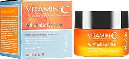Парфюмерия и Козметика Околоочен крем против бръчки - Frulatte Vitamin C Anti-Wrinkle Eye Cream