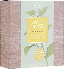Парфюмерия и Козметика Maurer & Wirtz 4711 Aqua Colognia Lemon & Ginger - Комплект (одеколон/50ml + душ гел/75ml)