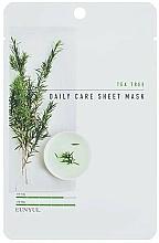 Парфюмерия и Козметика Памучна маска за лице с чаено дърво - Eunyul Daily Care Mask Sheet Tea Tree