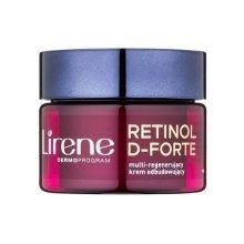 Парфюми, Парфюмерия, козметика Нощен крем лифтинг за лице - Lirene Retinol D-Forte Face Cream 70+