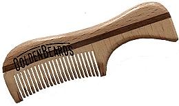 Парфюмерия и Козметика Гребен за брада от еко дърво, 9,5 см - Golden Beards Eco Moustache Comb