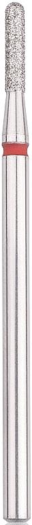 Диамантена фреза, закръглен цилиндър, 1,8 мм, L-8 мм, червена - Head The Beauty Tools — снимка N1