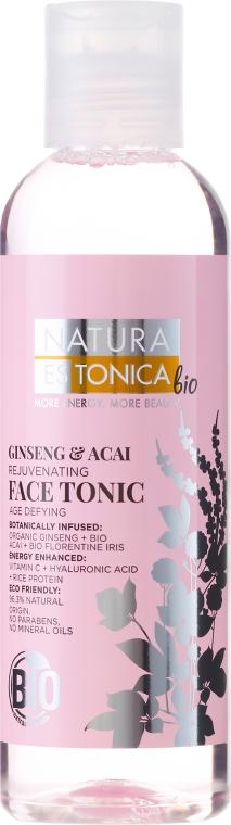 Обновяващ тоник за лице с Женшен и Акай - Natura Estonica Ginseng & Acai Face Tonic