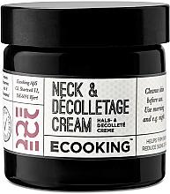 Парфюмерия и Козметика Крем за шия и деколте - Ecooking Neck & Decolletage Cream