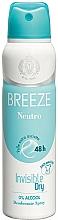 Парфюмерия и Козметика Breeze Deo Spray Neutro 48h - Дезодорант за тяло