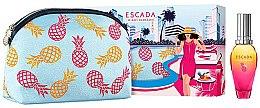 Парфюми, Парфюмерия, козметика Escada Miami Blossom - Комплект (тоалетна вода/30ml + козметичен несесер)