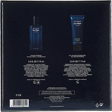 Davidoff Cool Water Intense - Комплект (парф. вода/75ml + душ гел/75ml) — снимка N3