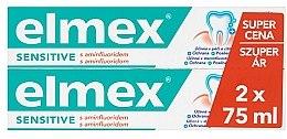 Парфюмерия и Козметика Комплект пасти за зъби - Elmex Sensitive Toothpaste (toothpaste/2x75ml)
