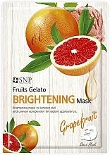Парфюмерия и Козметика Изсветляваща памучна маска за лице с екстракт от грейпфрут - SNP Fruits Gelato Brightening Mask