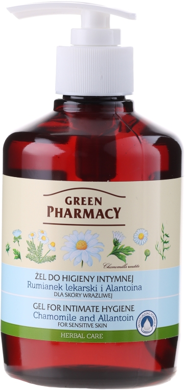 Гел за интимна хигиена с лайка и алантоин - Green Pharmacy
