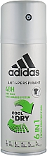 Парфюмерия и Козметика Дезодорант за мъже - Adidas Anti-Perspirant Cool&Dry 6 in 1 48H