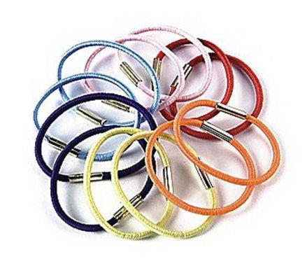 Тънки ластици за коса 6 цвята , FA-9874, 12 бр. - Donegal — снимка N1
