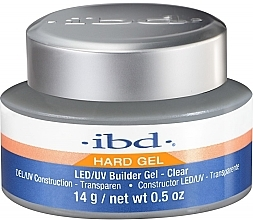 Конструиращ гел за нокти, прозрачен - IBD LED/UV Builder Clear Gel — снимка N2