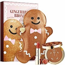Парфюми, Парфюмерия, козметика Комплект - Too Faced Gingerbread Bronzed & Kissed Set Limited Edition (бронзант/9g + червило/4g)