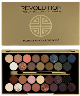 Палитра сенки за очи, 30 цвята - Makeup Revolution Eyeshadow Palette Fortune Favours The Brave
