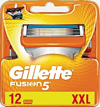 Парфюмерия и Козметика Сменяеми ножчета за бръснене, 12 бр. - Gillette Fusion
