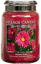 Парфюми, Парфюмерия, козметика Ароматна свещ в бурканче - Village Candle Autumn Aster Glass Jar